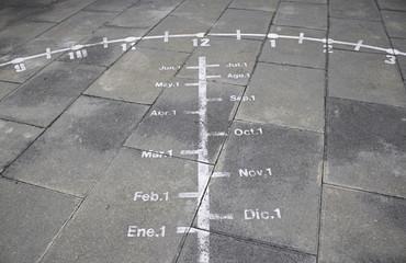 Sundial in soil