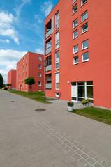 Neue Wohnhäuser in Frankfurt/Oder, Deutschland
