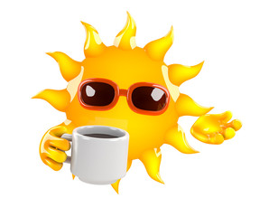 Sunshine is refreshed with a nice cup of tea