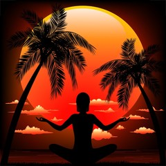 Meditation Zen on Tropical Sunset-Meditazione al Tramonto