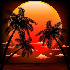 Sunset on Tropical Seascape-Tramonto Sul Mare dei Tropici