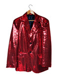 red sequin jacket