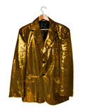yellow sequin jacket