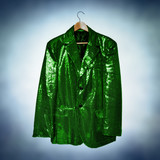 green sequined jacket