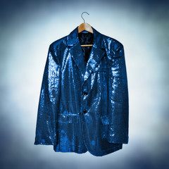 blue sequined jacket