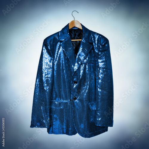 blue sequined jacket