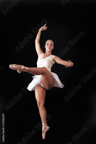 Ballet dancing, beautiful ballerina