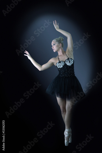 Ballet dancer in graceful pose