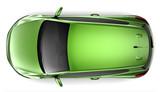 Fototapety Compact green car