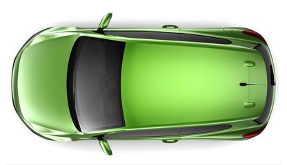 Compact green car