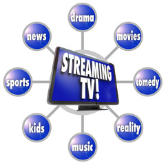 Streaming TV Content Entertainment Programs Movies Sports HDTV