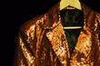 gold sequin entertainment jacket
