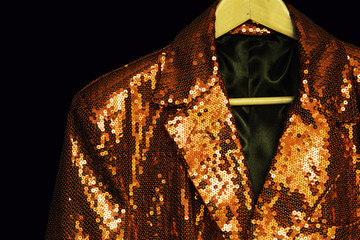 gold sequin entertainment jacket