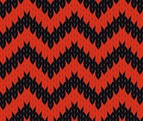 Red and black knit pattern