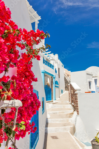 Fotobehang Athene Greece Santorini island in Cyclades, traditional sights of color