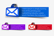 vector email banner design element.