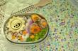 太陽モチーフの弁当