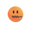 Zipped mouth - Emoticon icon