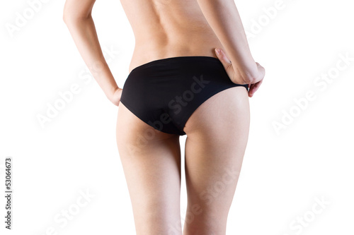 slim woman body. isolated on white background