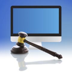 Judge gavel,  Internet Auction