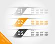 orange transparent three oblique stickers