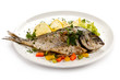 Fish dish - roasted fish and vegetables