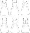 Vector illustration of summer dresses