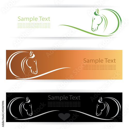 Vector image of an horse banners .