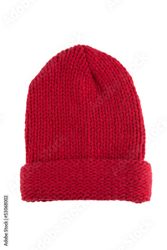 Knit hat on white