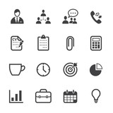 Business and Office Icons with White Background - 53068852
