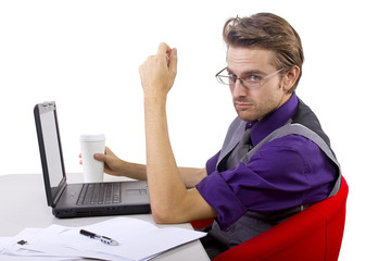 overworked accountant on tax season