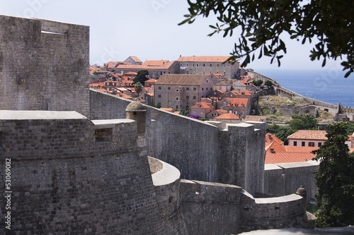 Walls of fortified Dubrovnik, Croatia