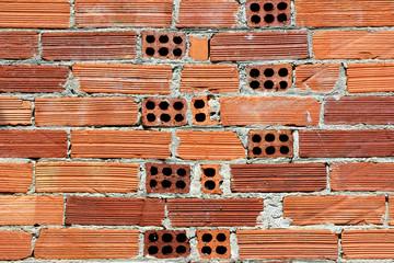 Muro in mattoni forati