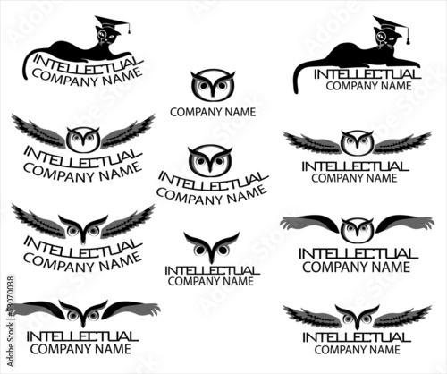 Логотипы для научных компаний и курсов.