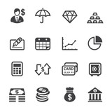 Finance Icons with White Background