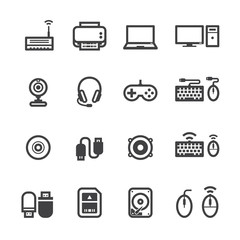 Computer Icons with White Background