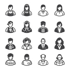 Family Icons and People Icons with White Background