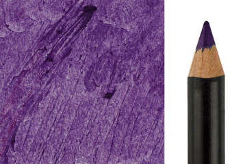 Purple Makeup pencil with sample stroke