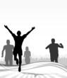 Menschen Laufsport