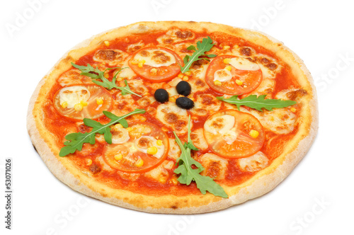 Vegetarian pizza with  tomato