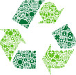 Green conceptual recycle icon