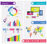 Infographics design elements, infographic template