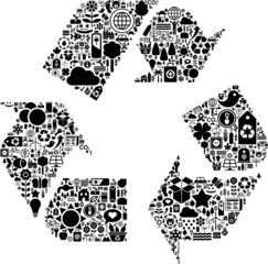 Conceptual recycle icon