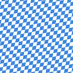 Octoberfest Seamless Pattern Blue/White Diagonal