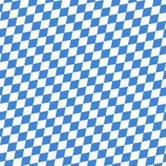 Octoberfest Seamless Pattern Blue/White Diagonal