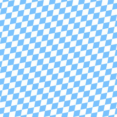 Octoberfest Seamless Pattern Light Blue/White Diagonal