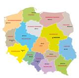 Fototapety Polen Administrativ Verwaltungsgliederung