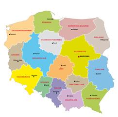 Polen Administrativ Verwaltungsgliederung