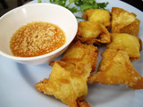 Thai food or Thai Cuisine   fried wonton with egg poster