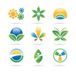 eco icons - logos